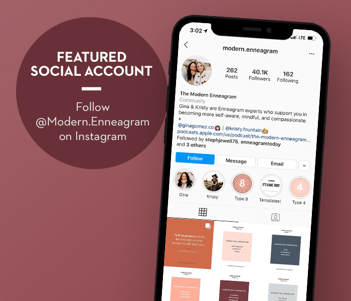 Featured Social Account Follow Modern.Enneagram on Instagram